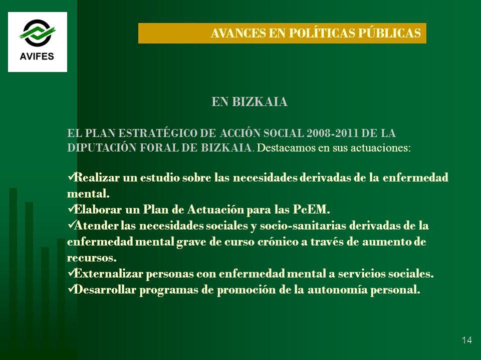 14 AVANCES EN POLÍTICAS PÚBLICAS EN BIZKAIA EL PLAN ESTRATÉGICO DE ACCIÓN SOCIAL 2008-2011 DE LA DIPUTACIÓN FORAL DE BIZKAIA.
