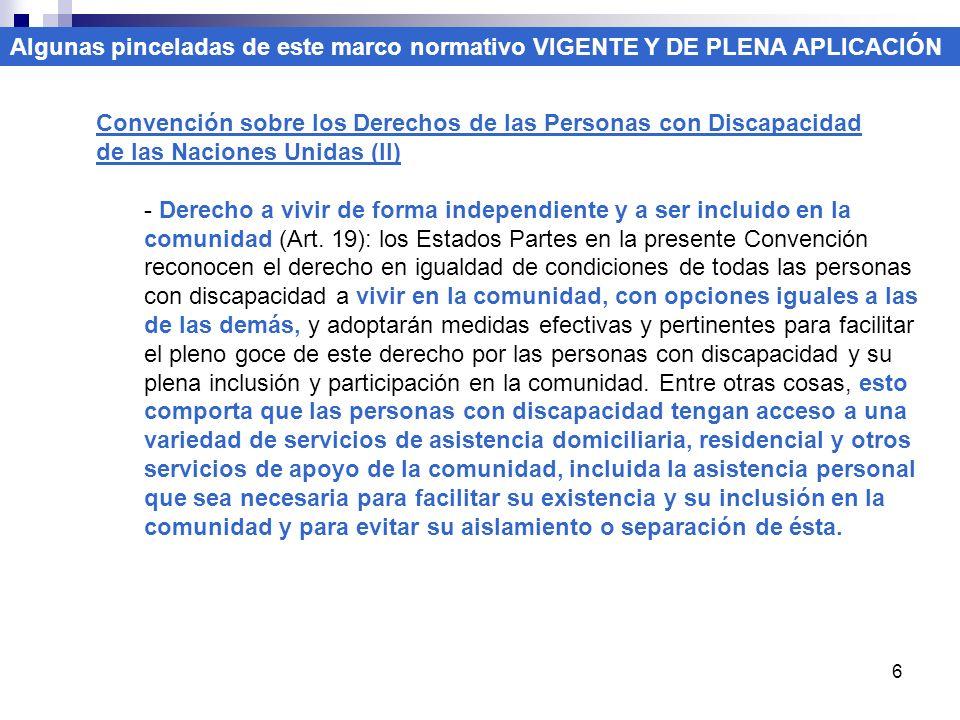 6 Convención sobre los Derechos de las Personas con Discapacidad de las Naciones Unidas (II) - Derecho a vivir de forma independiente y a ser incluido en la comunidad (Art.