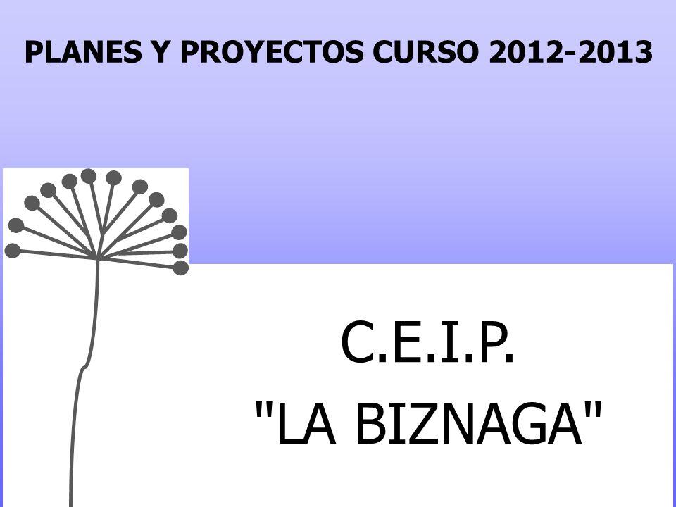 PLANES Y PROYECTOS CURSO 2012-2013 C.E.I.P. LA BIZNAGA