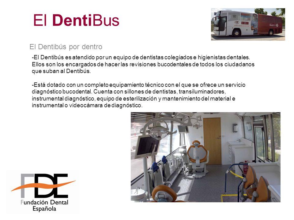 -El Dentibús es atendido por un equipo de dentistas colegiados e higienistas dentales. Ellos son los encargados de hacer las revisiones bucodentales d