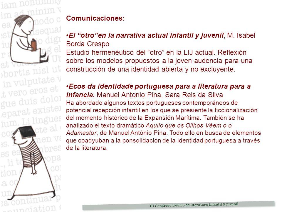 Comunicaciones: El otroen la narrativa actual infantil y juvenil, M.