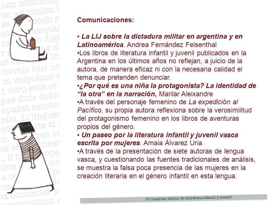 Comunicaciones: La LIJ sobre la dictadura militar en argentina y en Latinoamérica.