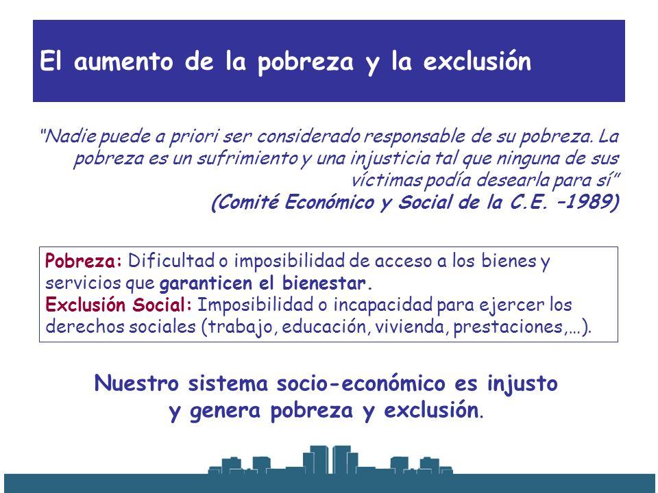 El aumento de la pobreza y la exclusión La solución es el crecimiento y la riqueza.