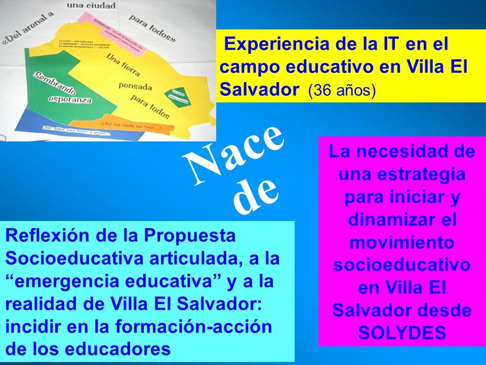 Reflexión de la Propuesta Socioeducativa articulada, a la emergencia educativa y a la realidad de Villa El Salvador: incidir en la formación-acción de