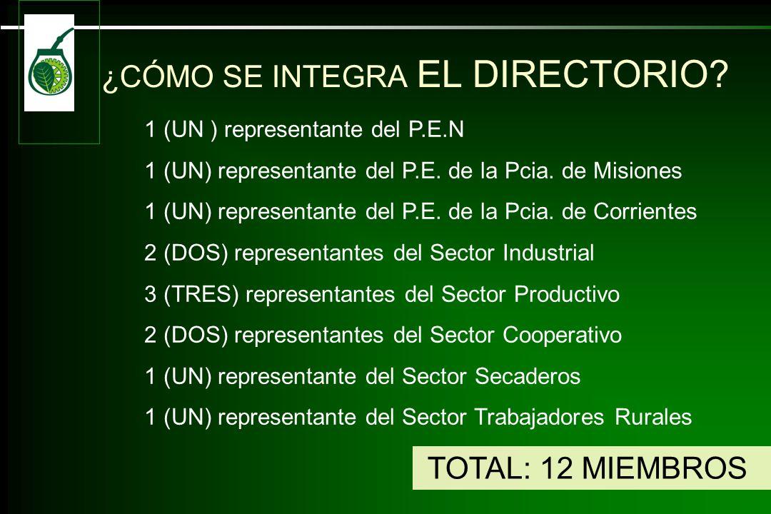 ¿CÓMO SE INTEGRA EL DIRECTORIO.1 (UN ) representante del P.E.N 1 (UN) representante del P.E.