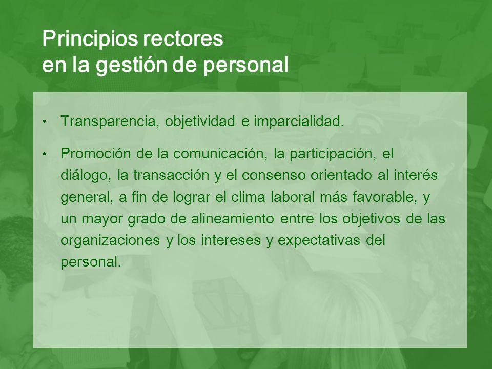 Transparencia, objetividad e imparcialidad.