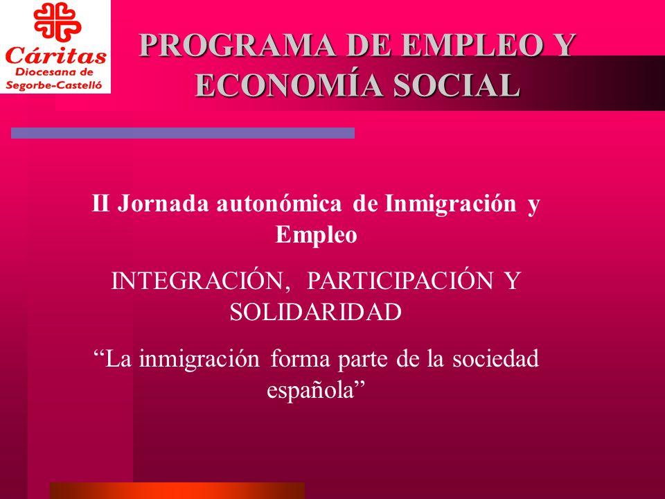 ORÍGENES 80 Comisiones de Lucha contra el Paro 1986 - Primeros talleres formativos 1992 - Creación del Programa de Empleo y Economía Social 1995 - Participación en Proyectos Europeos Estabilización del Programa y sus Servicios