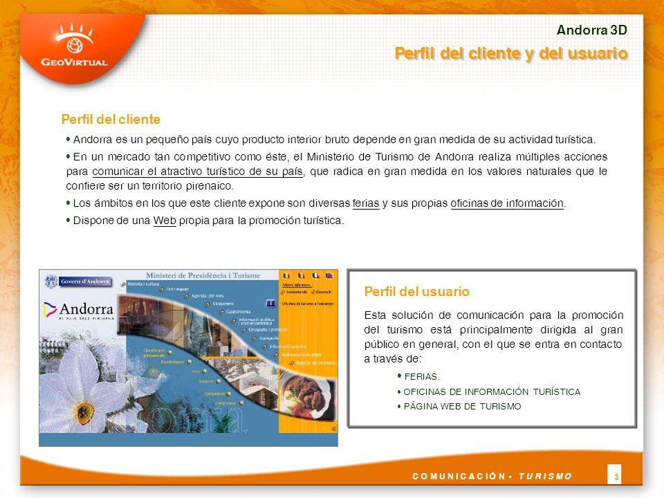 Perfil del cliente Andorra es un pequeño país cuyo producto interior bruto depende en gran medida de su actividad turística. En un mercado tan competi
