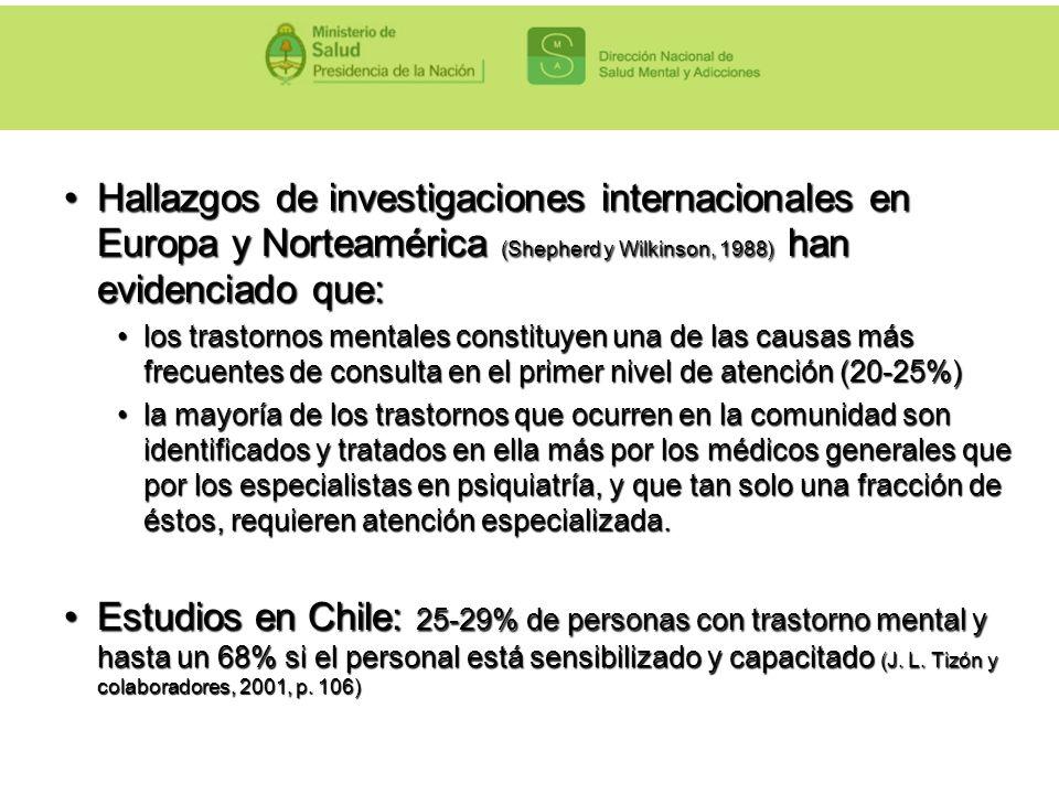 Hallazgos de investigaciones internacionales en Europa y Norteamérica (Shepherd y Wilkinson, 1988) han evidenciado que:Hallazgos de investigaciones in