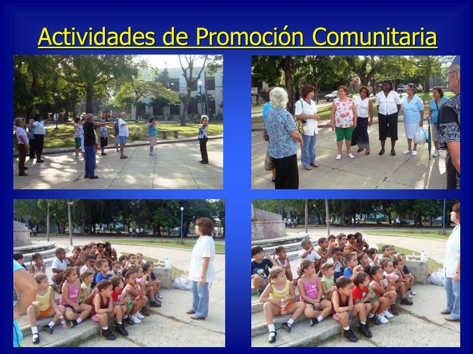 Actividades de Promoción Comunitaria