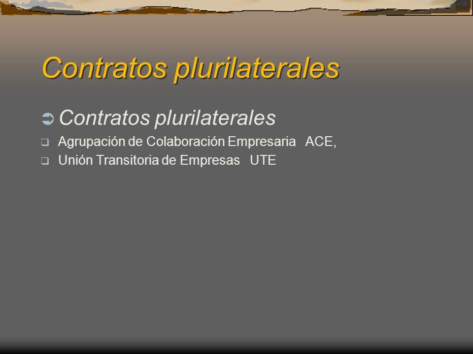 Contratos plurilaterales Agrupación de Colaboración Empresaria ACE, Unión Transitoria de Empresas UTE