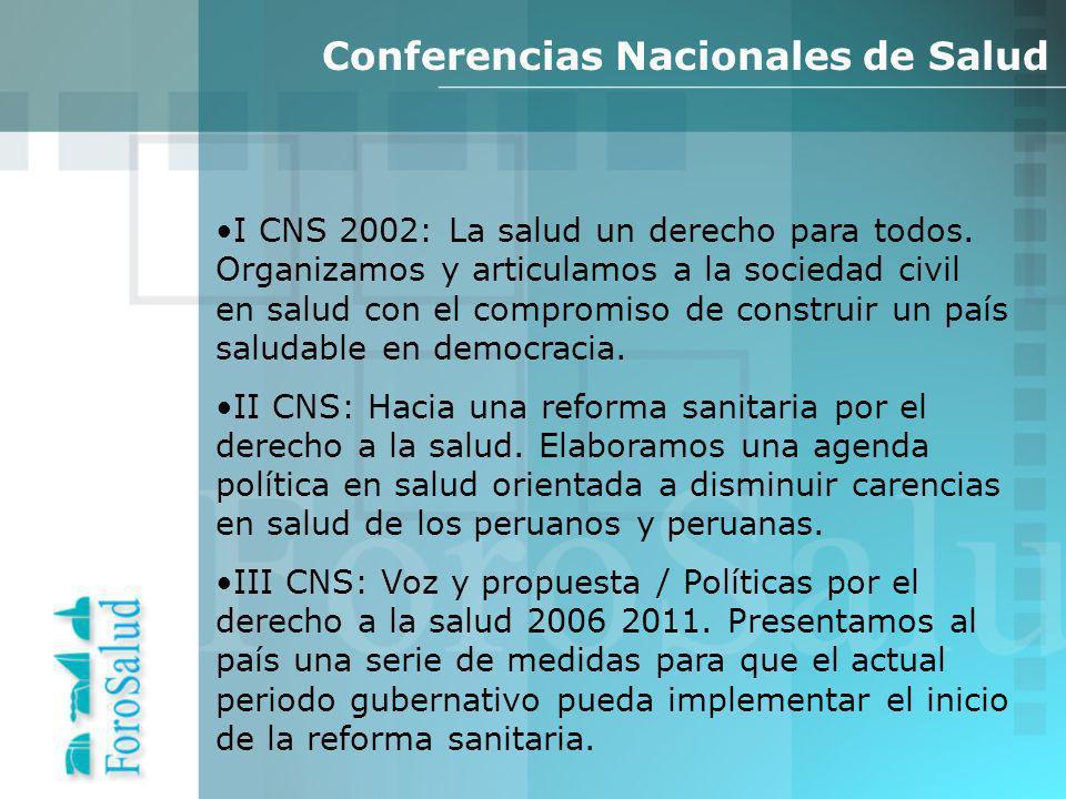 I CNS 2002: La salud un derecho para todos.
