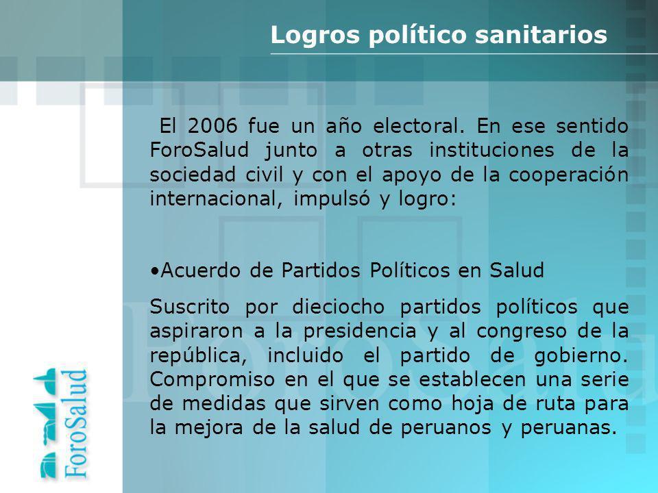 El 2006 fue un año electoral.