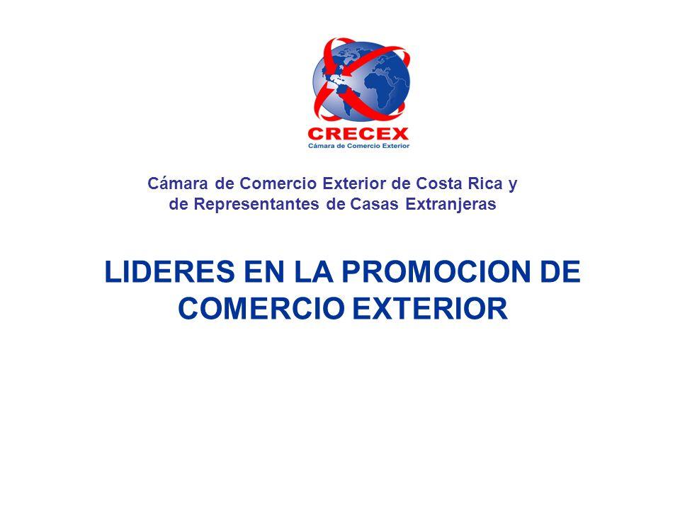 CRECEX Asociación sin fines de lucro Fue fundada en 1952 Visión: Ser la asociación empresarial, que representa al importador, distribuidor y representante de casas extranjeras, promoviendo y facilitando el desarrollo del comercio internacional, dentro de los más altos principios éticos.