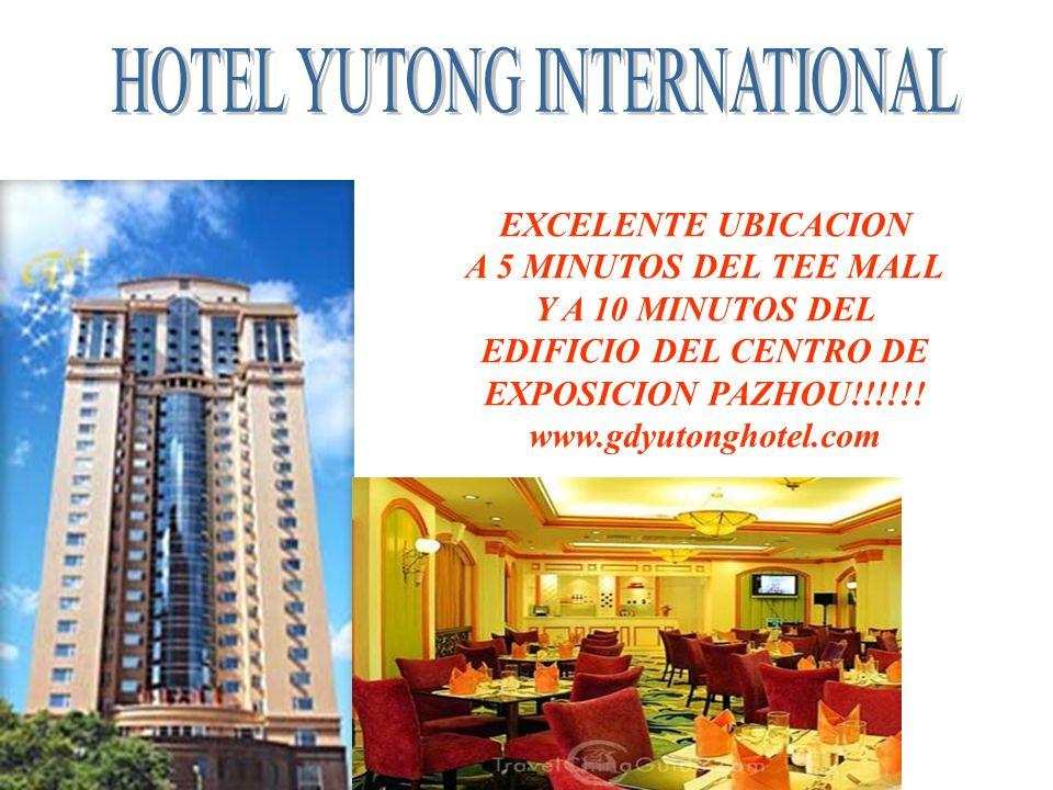 EXCELENTE UBICACION A 5 MINUTOS DEL TEE MALL Y A 10 MINUTOS DEL EDIFICIO DEL CENTRO DE EXPOSICION PAZHOU!!!!!! www.gdyutonghotel.com