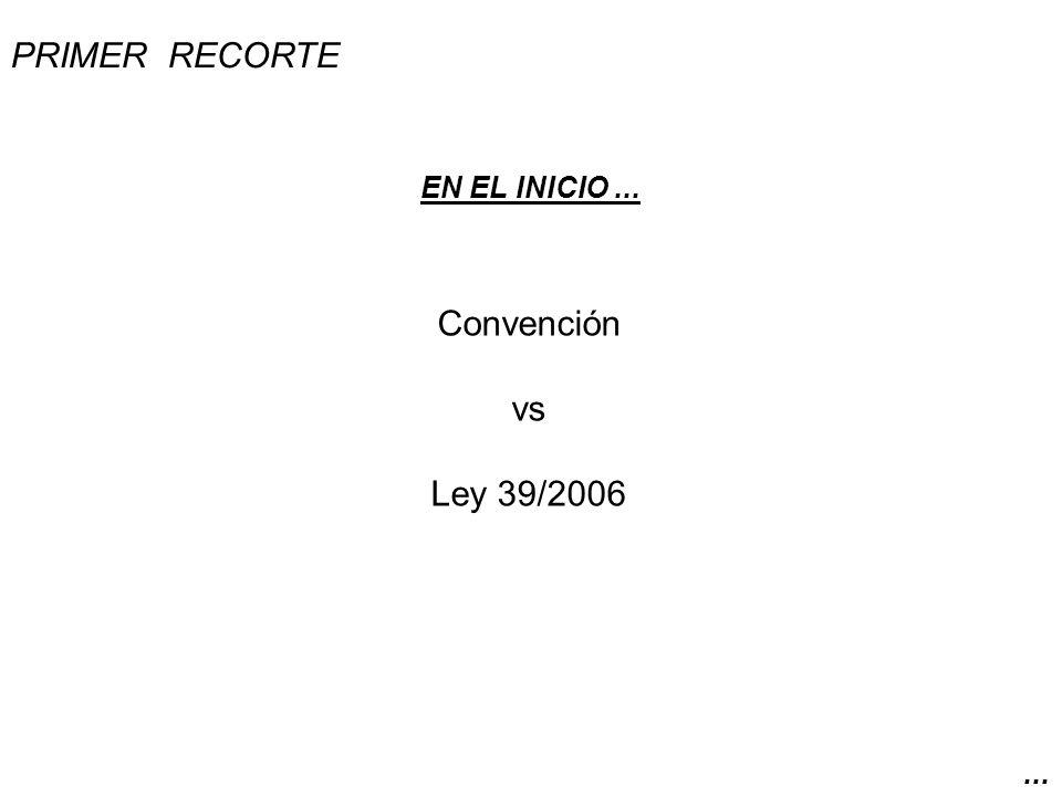 CONVENCIÓN SOBRE LOS DERECHOS DE LAS PERSONAS CON DISCAPACIDAD de la ONU, aprobada el 6 de diciembre de 2006.