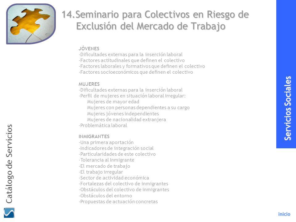 14.Seminario para Colectivos en Riesgo de Exclusión del Mercado de Trabajo INMIGRANTES -Una primera aportación -Indicadores de integración social -Par