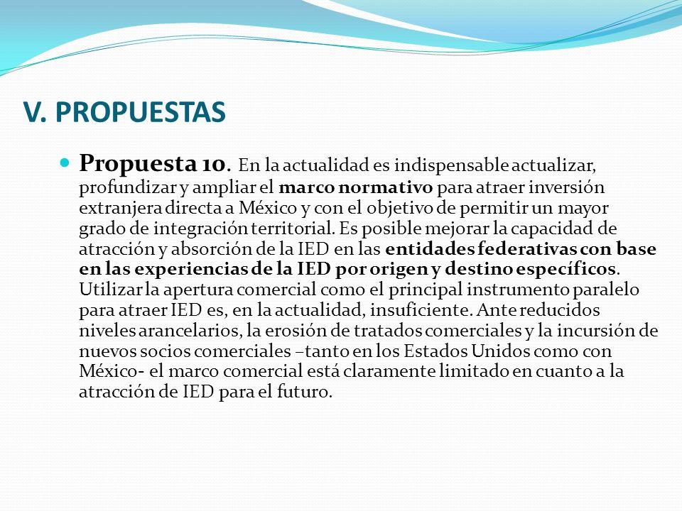 V. PROPUESTAS Propuesta 10.