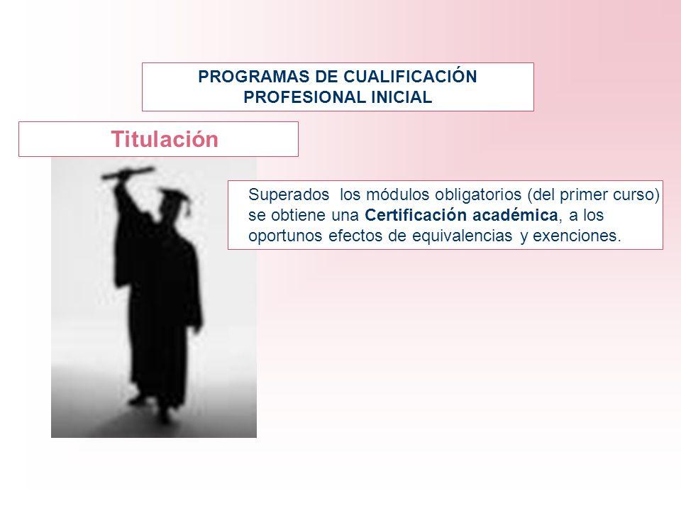 Superados los módulos obligatorios (del primer curso) se obtiene una Certificación académica, a los oportunos efectos de equivalencias y exenciones. P
