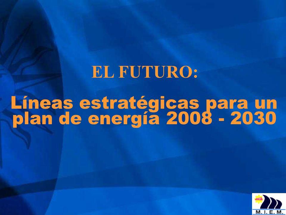 EL FUTURO: Líneas estratégicas para un plan de energía 2008 - 2030