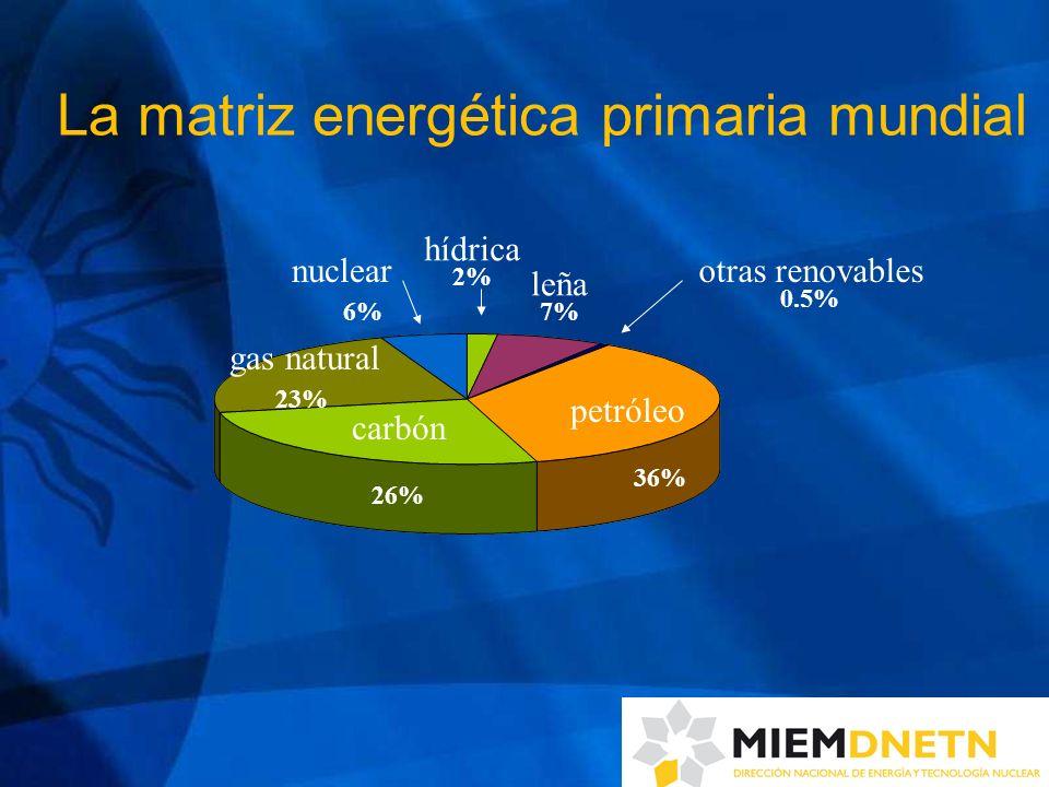 B) Para cambiar la matriz energética 1) Sector eléctrico: introducir energías renovables autóctonas - impulsar la instalación de no menos de 250 MW de energía eólica, 200 MW de biomasa (residuos agroindustriales y/o leña) y 50 MW de hidráulicas (metas al 2015) - introducir 2 pequeñas granjas piloto de energía solar fotovoltaica - impulsar micro-emprendimientos (residencial, PYMES) en base a mini-molinos eólicos y paneles solares térmicos para calentar agua Exigencia para todas las iniciativas: alta participación de desarrollo local