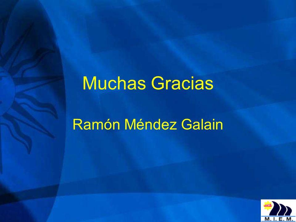 Muchas Gracias Ramón Méndez Galain