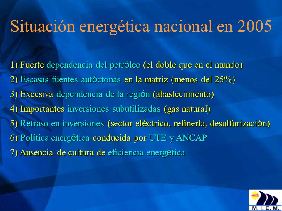 C) Para promover el uso racional y equitativo de la energía 1) Promover la cultura de la eficiencia energética: en equipos consumidores de energía, en la construcción, en el transporte, en el sector productivo, fomentar prácticas de uso racional de la energía 2) Promover el acceso a la energía de todos los sectores sociales: - promover una canasta energética - favorecer la inclusión social - mejorar la información específica