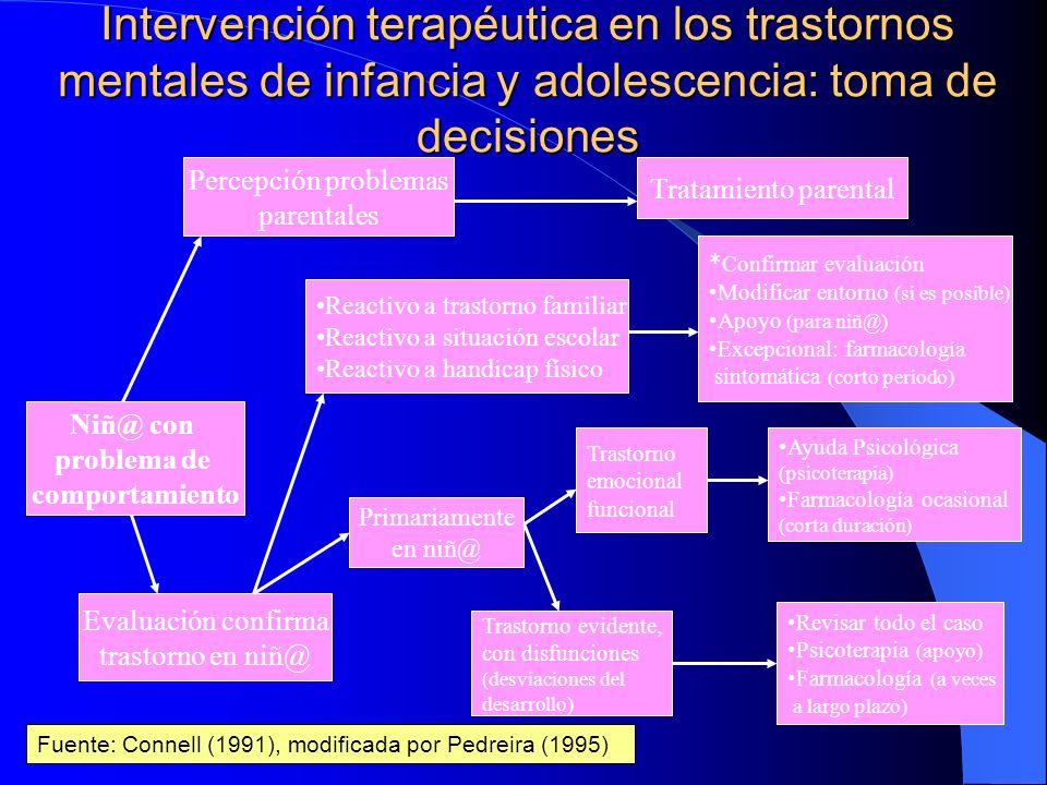Dificultades específicas para establecer tratamiento en trastornos mentales de infancia/4 Dificultades metodológicas para la evaluación de la mayoría