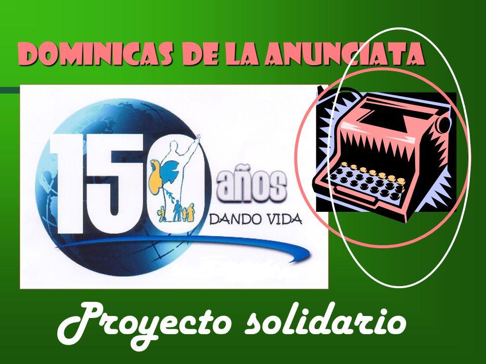 Proyecto solidario Dominicas de la Anunciata