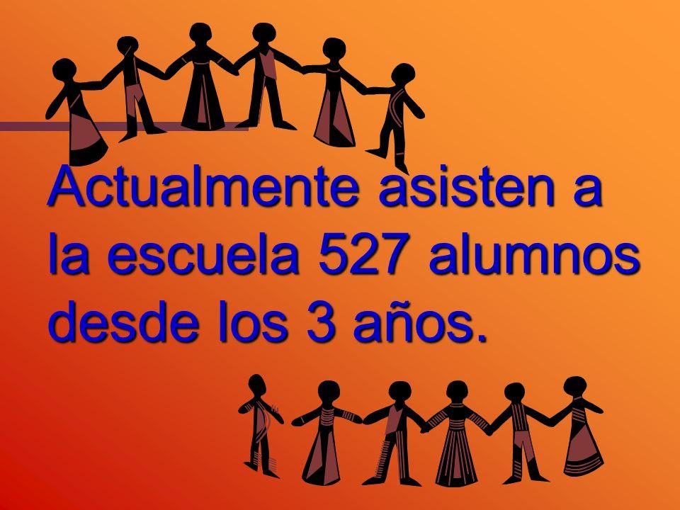Actualmente asisten a la escuela 527 alumnos desde los 3 años.