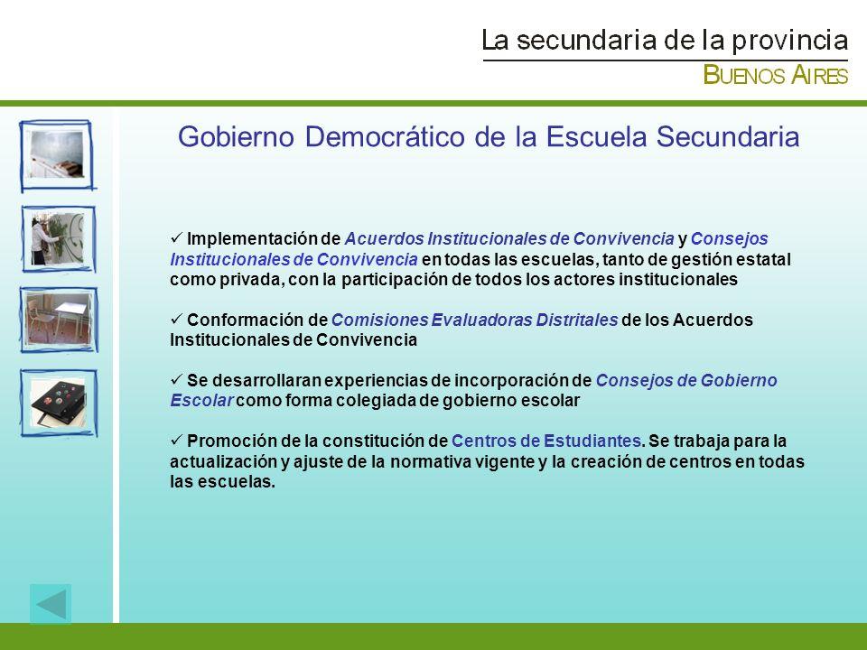 Implementación de Acuerdos Institucionales de Convivencia y Consejos Institucionales de Convivencia en todas las escuelas, tanto de gestión estatal co
