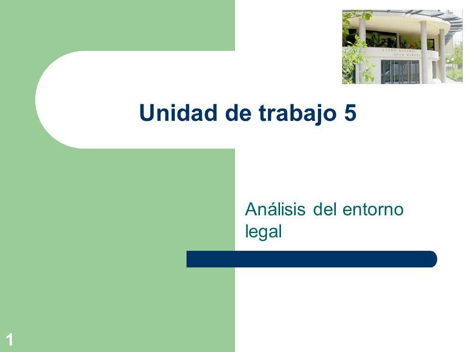 1 Unidad de trabajo 5 Análisis del entorno legal