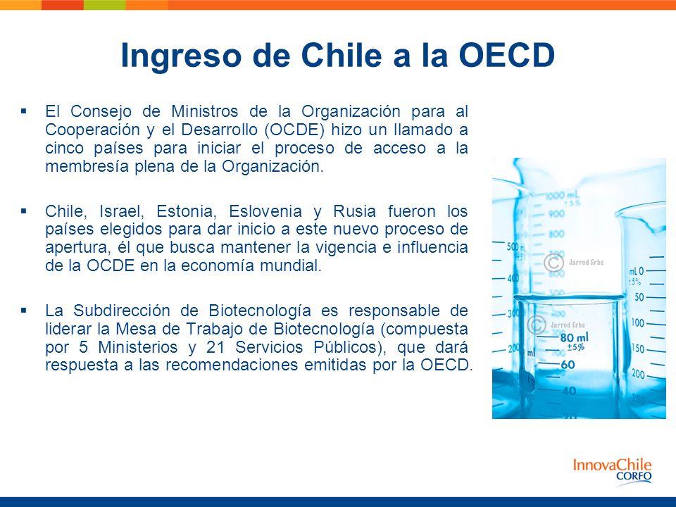 Ingreso de Chile a la OECD El Consejo de Ministros de la Organización para al Cooperación y el Desarrollo (OCDE) hizo un llamado a cinco países para i