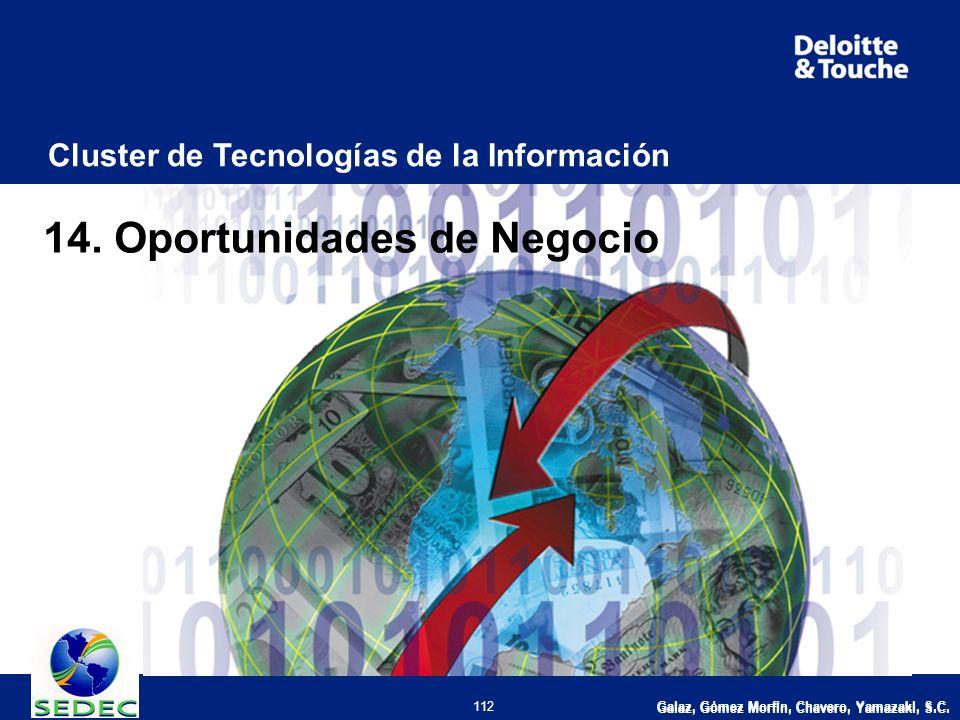 Galaz, Gómez Morfín, Chavero, Yamazaki, S.C. 112 Cluster de Tecnologías de la Información 14.