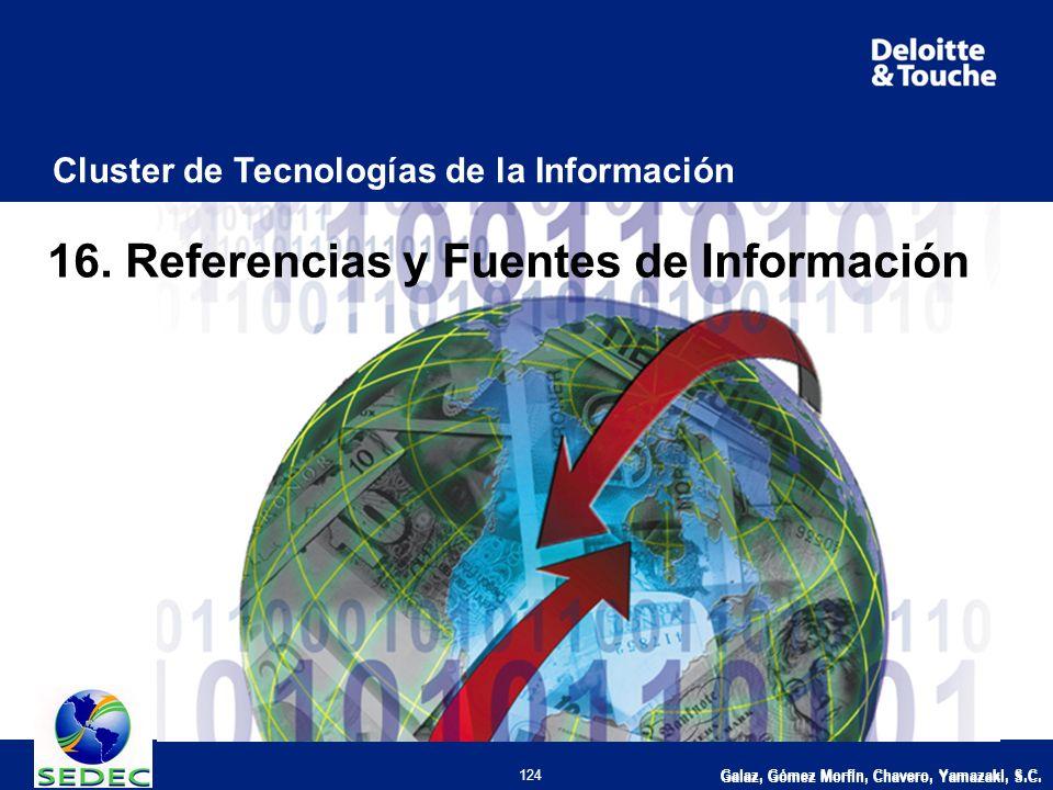 Galaz, Gómez Morfín, Chavero, Yamazaki, S.C. 124 Cluster de Tecnologías de la Información Galaz, Gómez Morfín, Chavero, Yamazaki, S.C. 16. Referencias