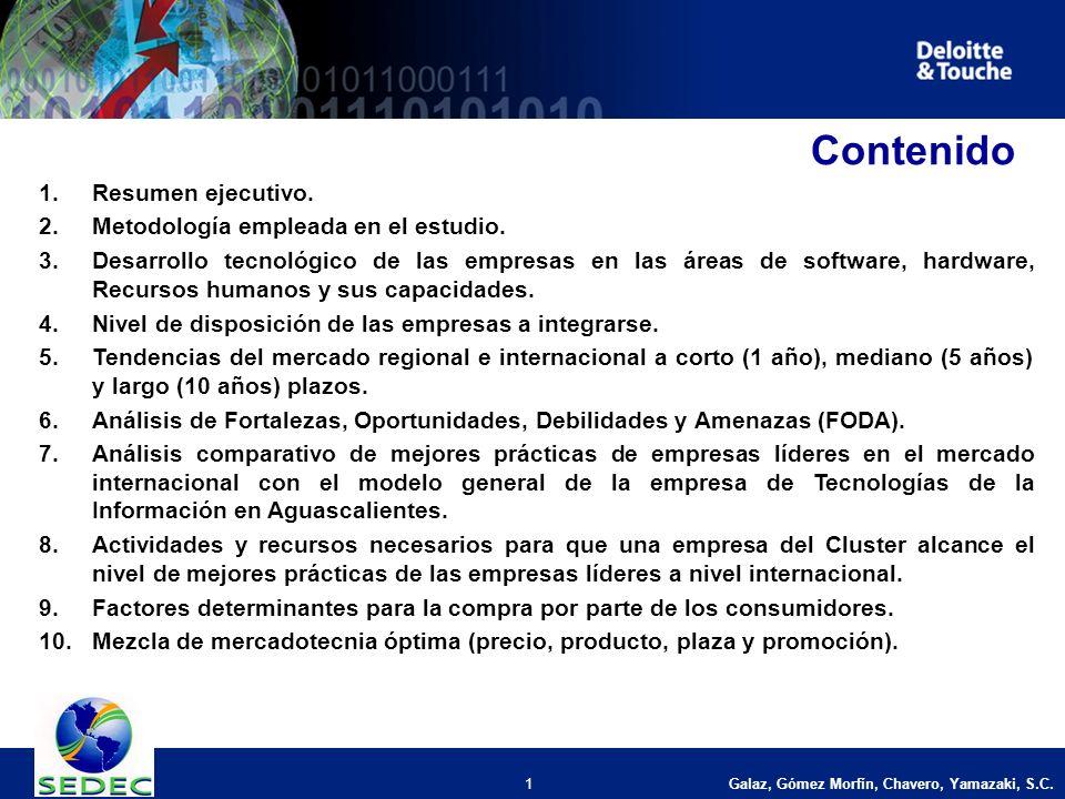 Galaz, Gómez Morfín, Chavero, Yamazaki, S.C. 1 Contenido 1.Resumen ejecutivo.