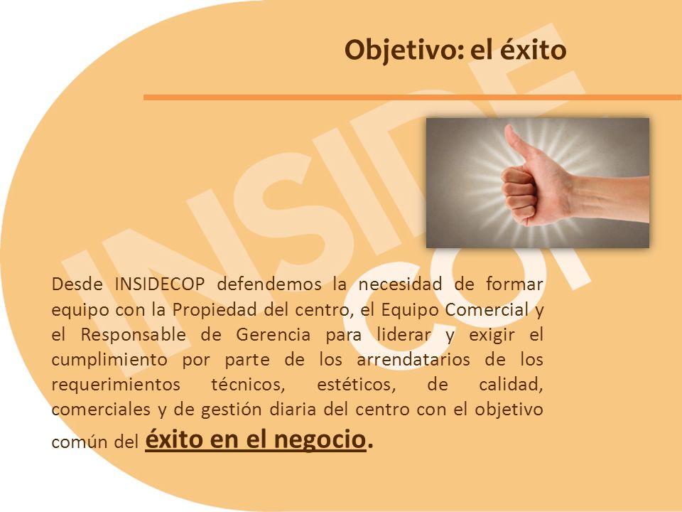 Desde INSIDECOP defendemos la necesidad de formar equipo con la Propiedad del centro, el Equipo Comercial y el Responsable de Gerencia para liderar y