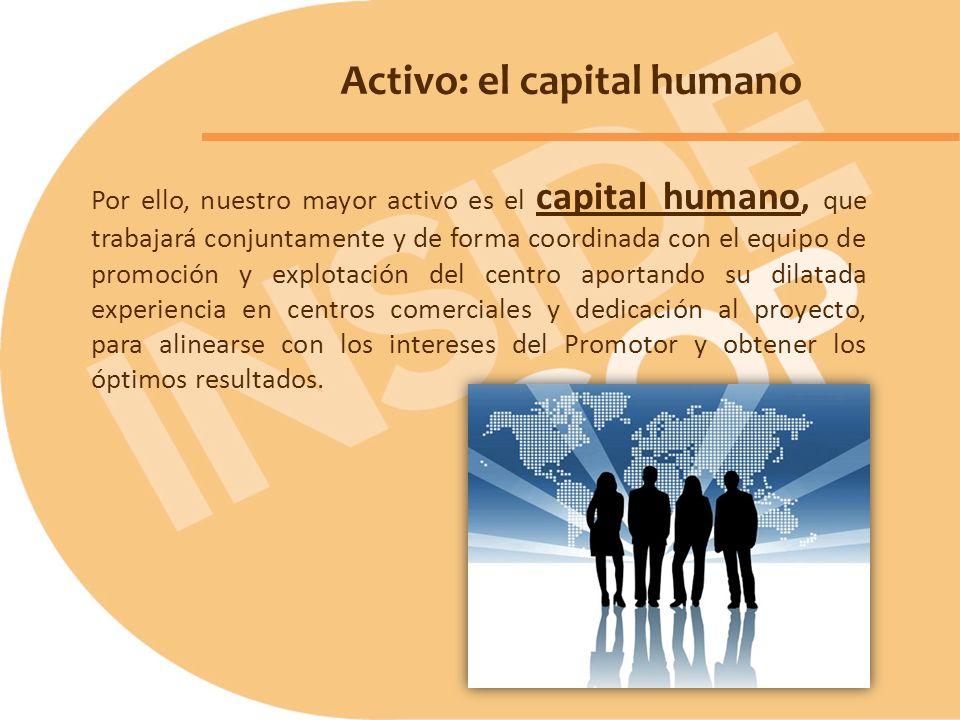 Por ello, nuestro mayor activo es el capital humano, que trabajará conjuntamente y de forma coordinada con el equipo de promoción y explotación del ce
