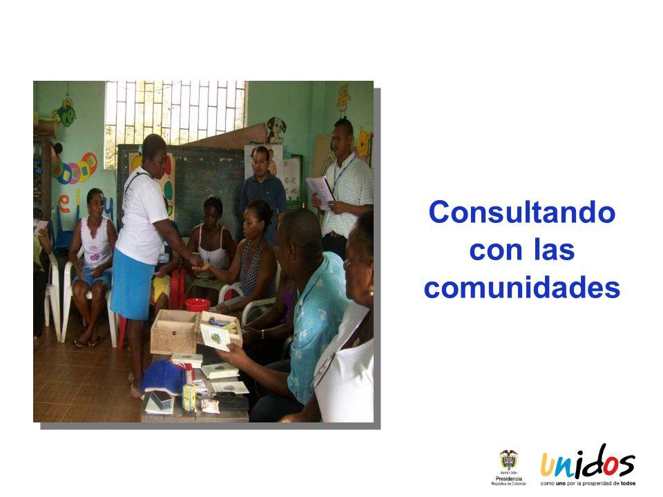 Consultando con las comunidades