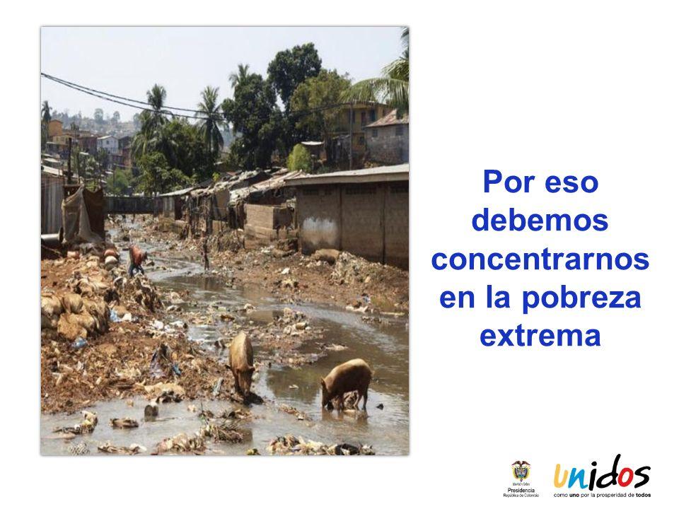Por eso debemos concentrarnos en la pobreza extrema