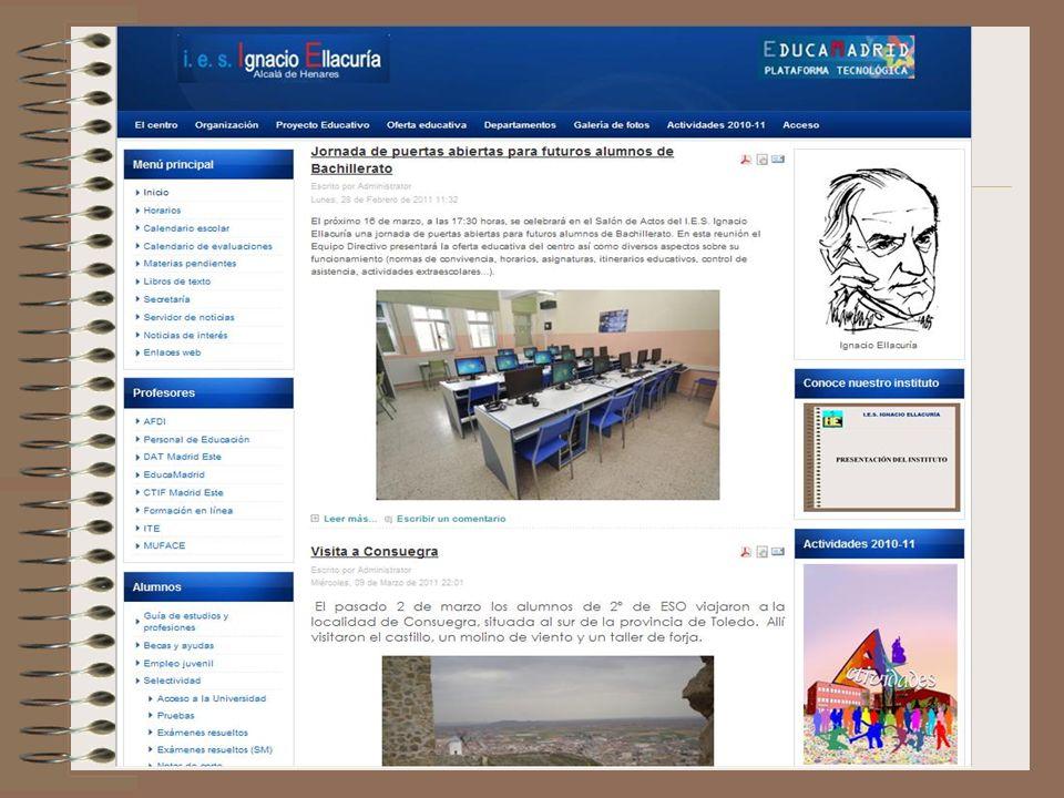 Visite nuestra web I.E.S. IGNACIO ELLACURÍA