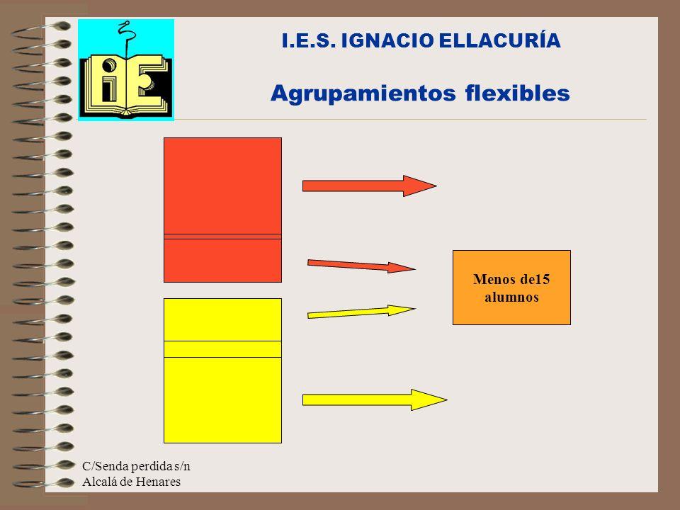 C/Senda perdida s/n Alcalá de Henares I.E.S. IGNACIO ELLACURÍA Agrupamientos flexibles Menos de15 alumnos