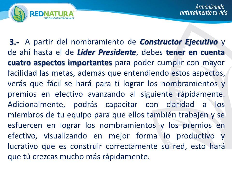 ConstructorEjecutivo Líder Presidentetener en cuenta cuatro aspectos importantes A partir del nombramiento de Constructor Ejecutivo y de ahí hasta el