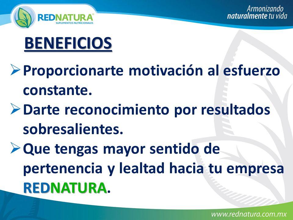 BENEFICIOS Proporcionarte motivación al esfuerzo constante.