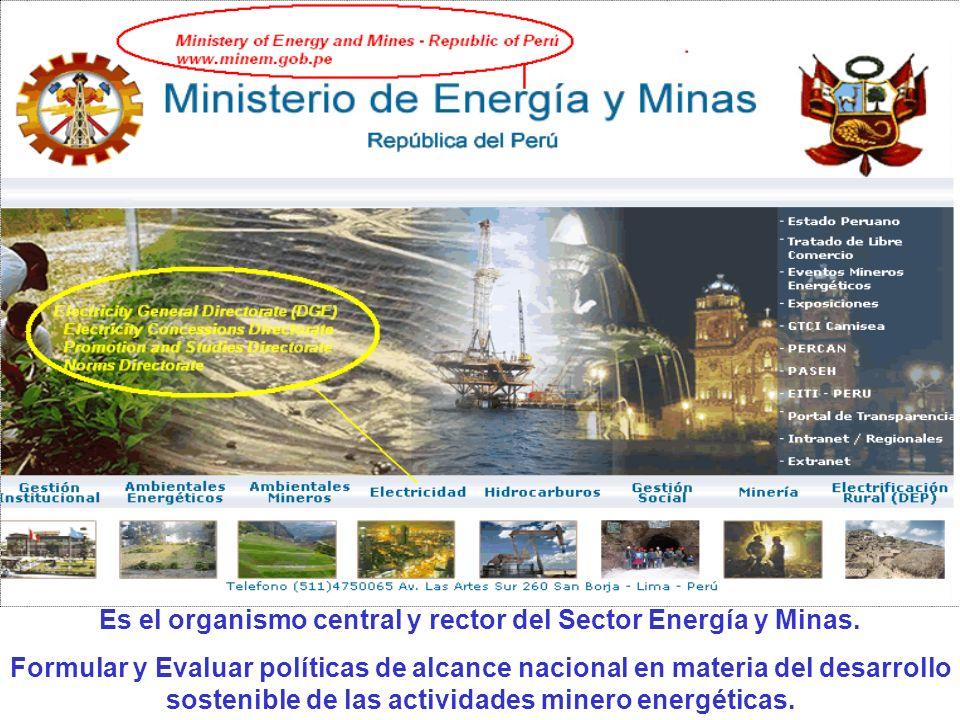 Dirección General de Electricidad – DGE.