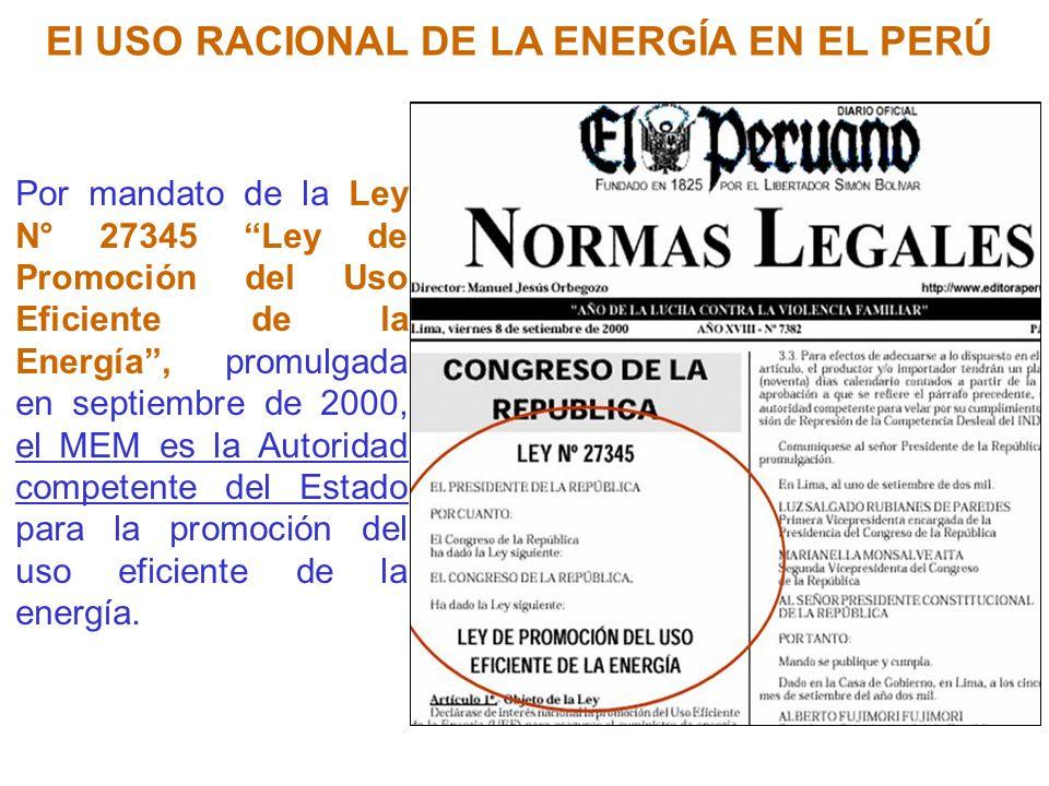 OBJETIVO DE LA LEY Articulo 1.- Objeto de la Ley: Declárese de interes nacional la promoción del Uso Eficiente de la Energía (UEE) para asegurar el suministro de energía, proteger al consumidor, fomentar la competitividad de la economía nacional y reducir el impacto ambiental negativo del uso y consumo de los energéticos.