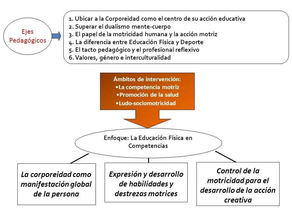 1. Ubicar a la Corporeidad como el centro de su acción educativa 2. Superar el dualismo mente-cuerpo 3. El papel de la motricidad humana y la acción m