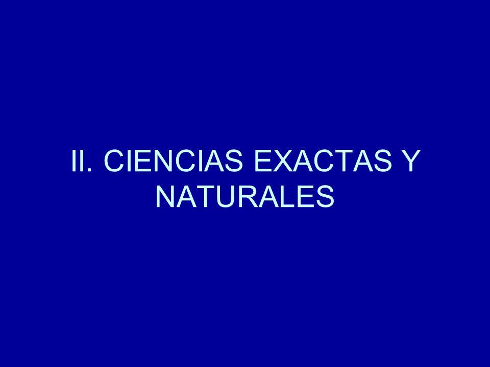 II. CIENCIAS EXACTAS Y NATURALES