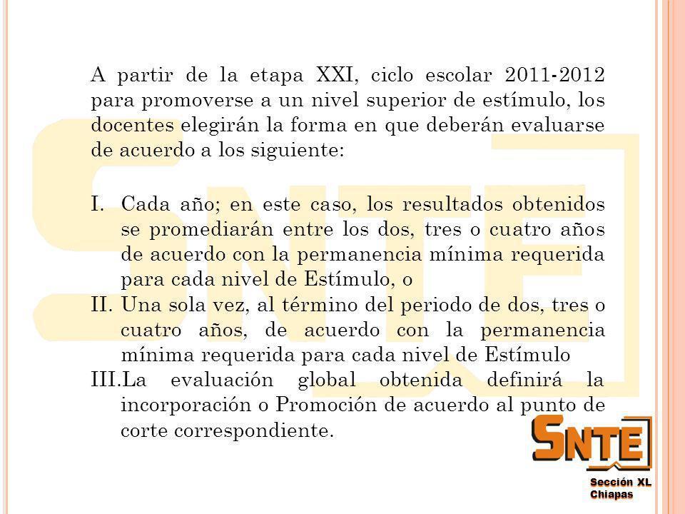 Sección XL Chiapas ¿C UÁLES SON LOS NUEVOS REQUISITOS PARA PROMOVERME A UN NIVEL SUPERIOR DE ESTÍMULO .