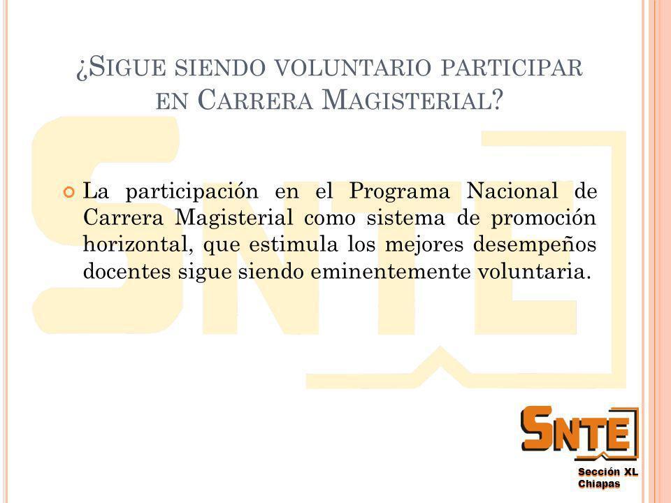 Sección XL Chiapas ¿E STOS L INEAMIENTOS MODIFICAN MI NIVEL ADQUIRIDO EN C ARRERA M AGISTERIAL .